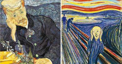 Retrato do Dr. Gachet, de Vicente Van Gogh (à esq.), e O Grito, de Munch, estão entre as telas mais valiosas (Fotos: Reprodução)