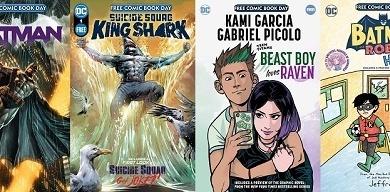 DC anuncia as quatro HQs que dará gratuitamente no Free Comic Book Day